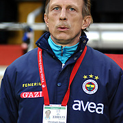 Fenerbahce's coach Christoph DAUM during their Turkish superleague soccer derby match Galatasaray between Fenerbahce at the AliSamiYen Stadium at Mecidiyekoy in Istanbul Turkey on Sunday, 28 March 2010. Photo by TURKPIX