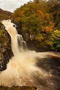 Kirkaig falls, near Suilven, autumn in the Highlands, NW Scotland.