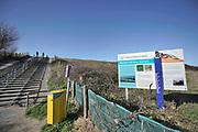 Nederland, Monster, 12-3-2020In de duinen langs de Noordzee  Er wordt veel gefietst en gewandeld in het duinengebied . . Foto: Flip Franssen