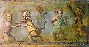 Pompei. The Hunt of the Dwarfs. Fresco. Naples National Museum