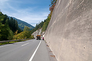 Cycling on a route 180 near Prutz, Tyrol, Austria