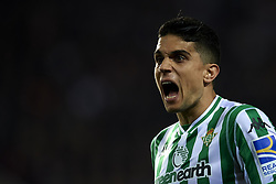 February 28, 2019 - Valencia, Valencia, Spain - Marc Bartra of Betis gives instructions during the Copa del Rey Semi Final match second leg between Valencia CF and Real Betis Balompie at Mestalla Stadium in Valencia, Spain on February 28, 2019. (Credit Image: © Jose Breton/NurPhoto via ZUMA Press)