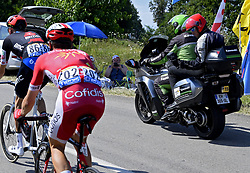 July 20, 2018 - Valence, France - VALENCE, FRANCE - JULY 20 : UCI control with thermal camera for motors in bicycles during stage 13 of the 105th edition of the 2018 Tour de France cycling race, a stage of 169.5 kms between Bourg d'Oisans and Valence on July 20, 2018 in Valence, France, 20/07/2018 (Credit Image: © Panoramic via ZUMA Press)