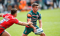 Rugby Union - 2019 / 2020 Gallagher Premiership - Leicester Tigers vs Sale Sharks<br /> <br /> George Ford of Leicester Tigers and Sam James of Sale Sharks at Welford Road.<br /> <br /> COLORSPORT/LYNNE CAMERON