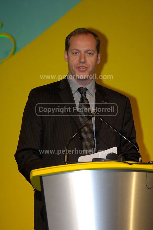 Christian Prudhomme, Director of theTour de France at the official launch of London hosting the Prologue and Stage One of the 2007 Tour de France held at the Queen Elizabeth 2 Conference Centre on Thursday 9th February 2006.