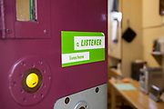 A Samaritans volunteer, also known as a listener, has a sticker on their cell door in case anyone needs to talk. HMP Kingston. Kingston prison is a category C prison holding indeterminate sentenced prisoners.