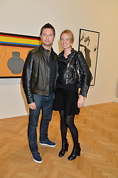 KATIE MORGAN-JONES and  at the opening private view of 'A Strong Sweet Smell of Incense - A portrait of Robert Fraser, held at the Pace Gallery, Burlington Gardens, London on 5th February 2015.