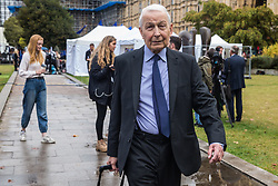 "London, UK. 25 September, 2019. Frank Field, Independent MP for Birkenhead, is interviewed on College Green on the day after the Supreme Court ruled that the Prime Minister's decision to suspend parliament was ""unlawful, void and of no effect"". Credit: Mark Kerrison/Alamy Live News"