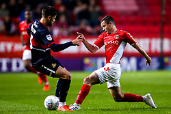 Josh Cullen of Charlton Athletic tackles Danny Andrew of Doncaster Rovers - Mandatory by-line: Robbie Stephenson/JMP - 17/05/2019 - FOOTBALL - The Valley - Charlton, London, England - Charlton Athletic v Doncaster Rovers - Sky Bet League One Play-off Semi-Final 2nd Leg