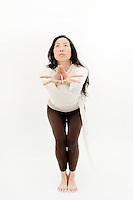 Woman in yoga expression.