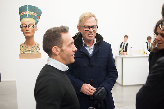 DAVID COLLINS, Editor of Wallpaper: Tony Chambers and architect Annabelle Selldorf host drinks to celebrate the collaboration between the architect and three of Savile Row's finest: Hardy Amies, Spencer hart and Richard James. Hauser and Wirth Gallery. ( Current show Isa Genzken. ) savile Row. London. 9 January 2012.