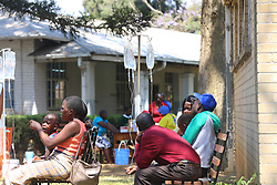 ZIMBABWE - Harare -Suspected Cholera patients lie down at the Beatrice Infectious diseases hospital in Mbare, Harare, Zimbabwe, 11 September 2018. Reports state that 18 people have died over the past week after drinking water contaminated by a burst sewer pipe in the high density suburb of Glen View. Picture : Shepherd Tozvireva/African News Agency/ANA
