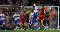 Photo: Paul Thomas.<br /> Liverpool v Middlesbrough. The Barclays Premiership. 18/04/2007.<br /> <br /> John Arne Riise (6) of Liverpool fires this shot over the bar.