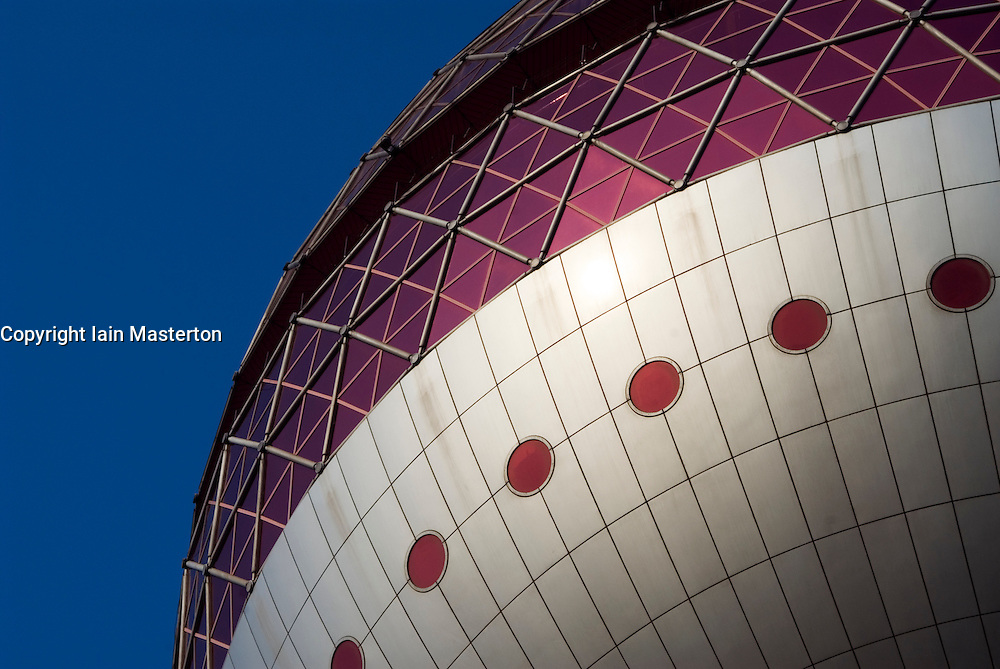 Detail of Pearl Oriental Tower in Pudong District of Shanghai China
