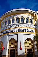 Maroc, Casablanca, Boulevard Mohammed V, ancienne Bourse // Morocco, Casablanca, Mohammed V boulevard, old Bourse