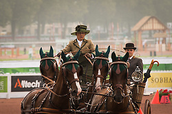 Alison Stroud, (USA), Anesco 4, Mozes, Olando, Ulco, Zenno - Driving Cones - Alltech FEI World Equestrian Games™ 2014 - Normandy, France.<br /> © Hippo Foto Team - Dirk Caremans<br /> 07/09/14