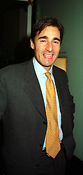 MR NICK CHESWORTH an organiser of the 1999 Rugby World Cup, at a party in London on 21st September 1999.MWO 66