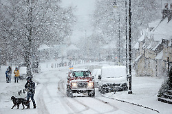 © Licensed to London News Pictures. 24/01/2021. Wendover, UK.  General view as heavy snow falls in the Chilterns. The Met office has issued a yellow warning for snow covering most of the south of England until 23:59 tonight.   Photo credit: Cliff Hide/LNP