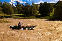 Kayaking on the Uncompaghre River, Ridgway, Colorado USA