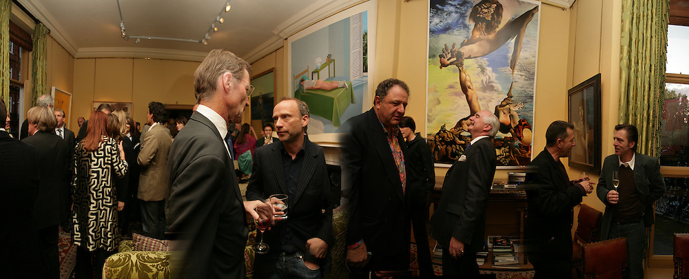Nicholas Serota,  Jean Pigozzi, Sir Timothy Clifford and Vicente Todoli. Party for Jean Pigozzi hosted by Ivor Braka to thank him for the loan exhibition 'Popular Painting' from Kinshasa'  at Tate Modern. Cadogan sq. London. 29 May 2007.  -DO NOT ARCHIVE-© Copyright Photograph by Dafydd Jones. 248 Clapham Rd. London SW9 0PZ. Tel 0207 820 0771. www.dafjones.com.