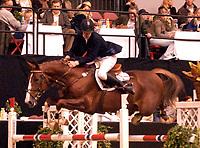 Rikstoto Grand Prix, Oslo Horse Show, Oslo Spektrum 19.10.02 <br />Saturday, October 19th 2002. ISOLDE GLENLIVET SEBIOUNE Dag OLSEN (NOR)<br />Foto: Geir Egil Skog, Digitalsport