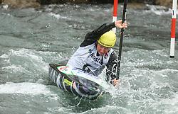 Eva Alina Hocevar of Slovenia competes during the Kayak Single (K1) Women race in Semifinal of European Open Canoe Slalom Cup on April 18, 2021 in Tacen, Ljubljana, Slovenia. Photo by Vid Ponikvar / Sportida
