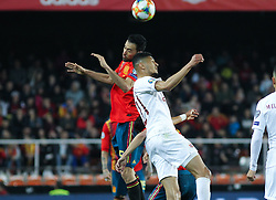 March 23, 2019 - Valencia, Valencia, Spain - Busquets of Spain in action during European Qualifiers championship, , football match between Spain and Norway, March 23th, in Mestalla Stadium in Valencia, Spain. (Credit Image: © AFP7 via ZUMA Wire)