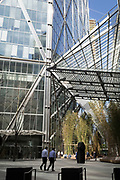 The plaza at Broadgate Tower, on 17th April 2018, in the City of London, England.