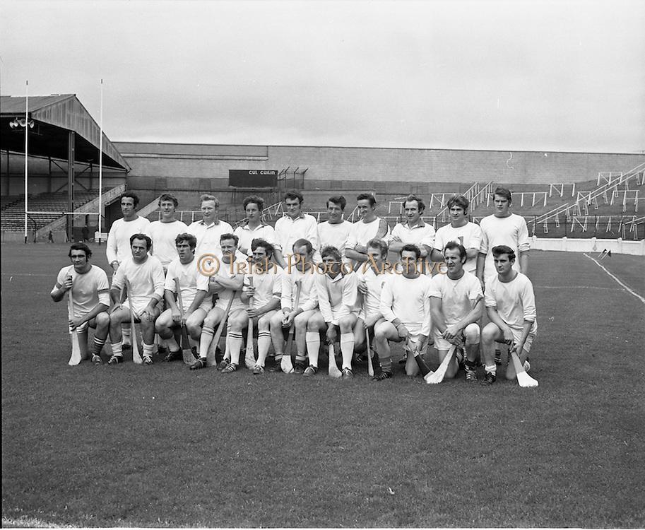 04/10/1970<br /> 10/04/1970<br /> 10 April 1970<br /> All-Ireland Intermediate Hurling Final: Antrim v Warwickshire at Croke Park, Dublin.<br /> The Antrim team which won the All-Ireland Intermediate Hurling Final against Warwickshire.