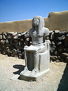 "Egyptian idol found at Bet She'an Israel, Bet shean is located in the northn regions of Israel, Bet She'an was the site of an Egyptian administrative center during the XVIII and XIX dynasties. In Hellenistic times it was a Scythian city from circa 625 to 300 B.C., and the biblical city Beth-shean. In 64 BC it was taken by the Romans, rebuilt, and made the center of the Decapolis, the ""Ten Cities"" of Samaria that were centers of Greco-Roman culture. The city contains the best preserved Roman theater of ancient Samaria.<br /> <br /> During the 6th century Byzantine period, Bet She'an housed a Christian monastery named the Monastery of Lady Mary which has a Zodiac mosaic that is still preserved today."
