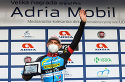 Matthias Mangertseder (Team Felbermayr Simplon), best in mountain classification celebrates at Trophy ceremony during cycling race 6th Grand Prix Adria Mobil 2021, on March 28, 2021, in Novo mesto, Slovenia. Photo by Vid Ponikvar / Sportida