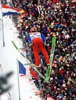 Hopp - Skiflygning - FIS World Cup - Bad Mittendorf / Kulm<br /> 01.02.03<br /> Sigurd Pettersen<br /> Foto: Calle Törnström, Digitalsport