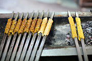 Kebabs on a  griddle at Karims Restaurant , Old Delhi