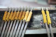 Kebabs on a  griddle at Karims Restaurant , Old Delhi