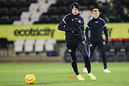 Forest Green Rovers Ben Morris(22) warming up during the The FA Cup 1st round replay match between Forest Green Rovers and Oxford United at the New Lawn, Forest Green, United Kingdom on 20 November 2018.