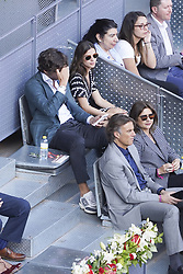 May 7, 2019 - Madrid, Spain - Feliciano López and  Sandra Gago during day four of the Mutua Madrid Open at La Caja Magica on May 07, 2019 in Madrid, Spain  (Credit Image: © Oscar Gonzalez/NurPhoto via ZUMA Press)