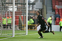 Photo: Pete Lorence.<br />Nottingham Forest v Scunthorpe United. Coca Cola League 1. 07/10/2006.<br />Scunthorpe's Billy Sharp celebrates his last minute goal.