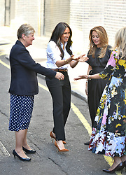 The Duchess of Sussex arrives to launch the Smart Works capsule collection at John Lewis in Oxford Street, London.
