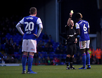 Ipswich Town's Trevoh Chalobah is shown a yellow card by referee Andy Woolmer<br /> <br /> Photographer Hannah Fountain/CameraSport<br /> <br /> The EFL Sky Bet Championship - Ipswich Town v Sheffield United - Saturday 22nd December 2018 - Portman Road - Ipswich<br /> <br /> World Copyright © 2018 CameraSport. All rights reserved. 43 Linden Ave. Countesthorpe. Leicester. England. LE8 5PG - Tel: +44 (0) 116 277 4147 - admin@camerasport.com - www.camerasport.com