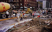 CS02185.  Transit Mall construction SW Fifth Ave. & Main. Jimmy Carter HQ. May 8, 1976