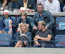 September 8, 2017 - Flushing Meadows, New York, U.S - Liev Schreiber (top right) and Jane Krakowski (bottom left) attend the game between Rafael Nadal and Juan Martin del Potro in the Semifinal game on Day Twelve of the 2017 US Open at the USTA Billie Jean King National Tennis Center on Friday September 8, 2017 in the Flushing neighborhood of the Queens borough of New York City.  Nadal defeats del Potro. Nadal defeats del Potro, 4-6, 6-0, 6-3, 6-2. (Credit Image: © Prensa Internacional via ZUMA Wire)