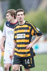 Alloa Athletic's Iain Flannigan.<br /> Alloa Athletic 0 v 0 Falkirk, Scottish Championship 12/10/2013. played at Recreation Park, Alloa.<br /> ©Michael Schofield.