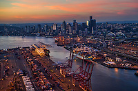 Harbor Island (foreground), Port of Seattle