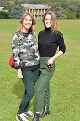 Victoria Dashwood and Ella Hadsley-Chaplin at Young Guns raising money for the fight against breast cancer trough Cancer Research UK held at EJ Churchill Shooting School followed by lunch at West Wycombe Park, England. 23 September 2017.