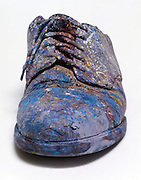 still life of an old painter shoe.