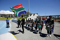 Monday 17th October 2016.<br /> Grand Parade & Greenpoint Athletics Stadium, Cape Town,<br /> Western Cape, South Africa.<br /> <br /> Cape Town Honours South African Olympic And Paralympic Heroes<br /> <br /> The Limited Edition Drummers from Mannenberg ready to play at Greenpoint Athletics Stadium.<br /> <br /> Cape Town honours the South African Olympic and Paralympic heroes during a special celebratory event held in Cape Town, Western Cape, South Africa on Monday 17 October 2016.<br /> <br /> Picture By: Mark Wessels / Real Time Images.