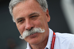 The chief executive of the Formula One Group, Chase Carey during second practice of the 2017 British Grand Prix at Silverstone Circuit, Towcester.