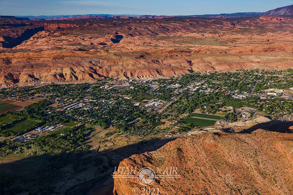 Moab City near the Colorado River in Utah