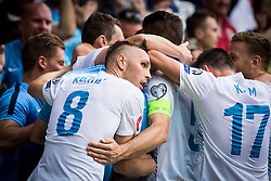 Players of Slovenia during the EURO 2016 Qualifier Group E match between Slovenia and England at SRC Stozice on June 14, 2015 in Ljubljana, Slovenia. Photo by Grega Valancic