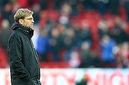 Liverpool Manager Jurgen Klopp looks on prior to kick off. Premier League match, Liverpool v Sunderland at the Anfield stadium in Liverpool, Merseyside on Saturday 26th November 2016.<br /> pic by Chris Stading, Andrew Orchard sports photography.